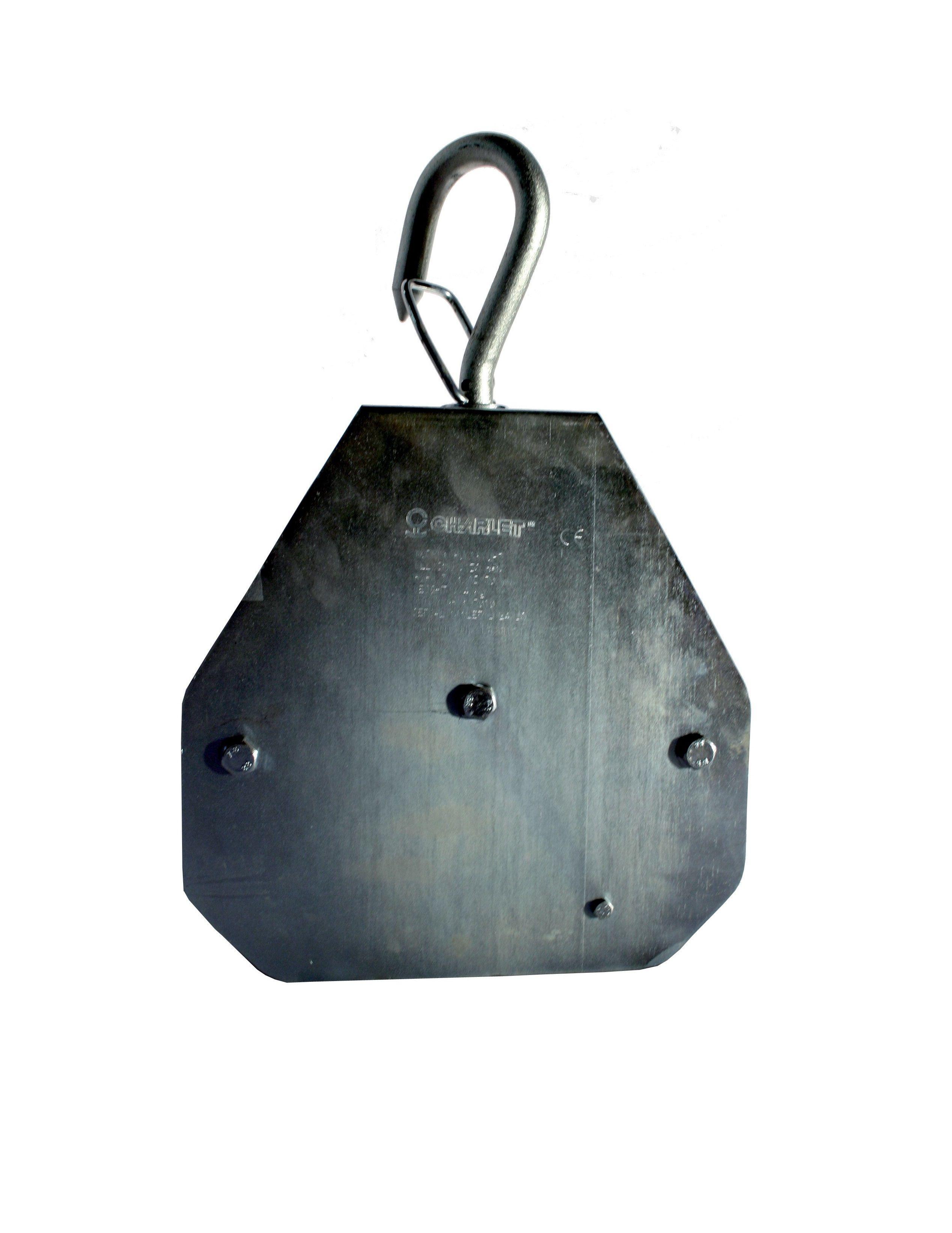 Gancio di Sollevamento in Acciaio Zincato Portata 250 Kg